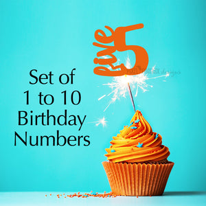 Birthday numbers svg, svg cut file, instant download, cake topper numbers, child's birthday svg, birthday numbers for cakes, svg cuttable