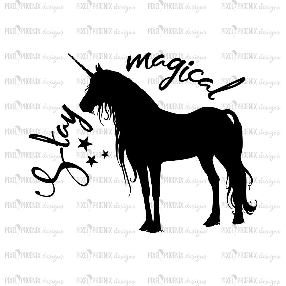 Unicorn decal svg, Stay magical SVG, Unicorn SVG file, unicorn cut file, svg for Cricut, vinyl template, instant download, svg cuttable