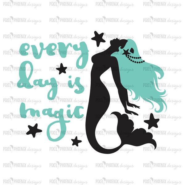 Mermaids, mermaid SVG file, mermaid cut file, mermaid clipart, svg for Cricut, vinyl template, instant download, svg cuttable, magic svg