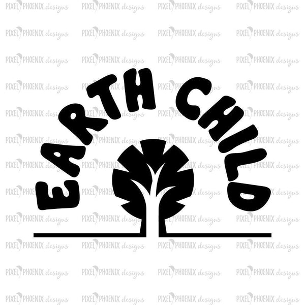 Earth Child, SVG cut file, Earth Child SVG, nature lover, eco friendly svg, cricut explore, silhouette cameo, instant download, svg cuttable