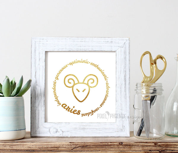 Aries SVG, Zodiac svg, SVG cut + JPG print file, horoscope, astrology svg, star sign, cricut, silhouette, instant download, svg cuttable