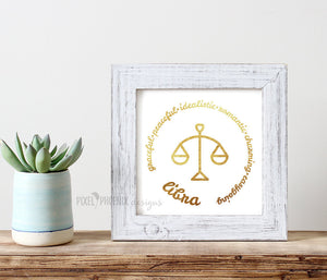 Libra SVG, Zodiac svg, cut + print file, horoscope, astrology svg, star sign, cricut explore, silhouette cameo, instant download