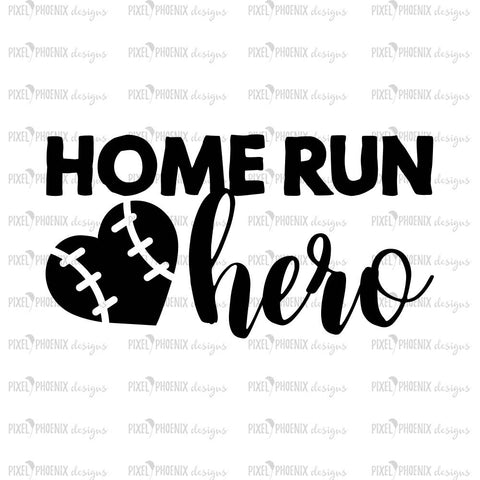 Home run Hero, SVG cut file, baseball svg, home run svg, baseball heart, raglan decal, love baseball, cricut explore, silhouette cameo