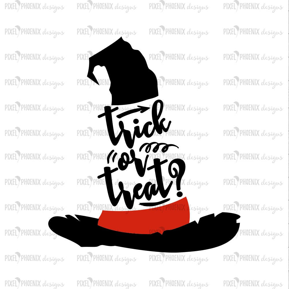 Trick or Treat SVG, halloween svg, halloween clipart, halloween cut file, witch hat, svg file for cricut, digital svg, svg file silhouette
