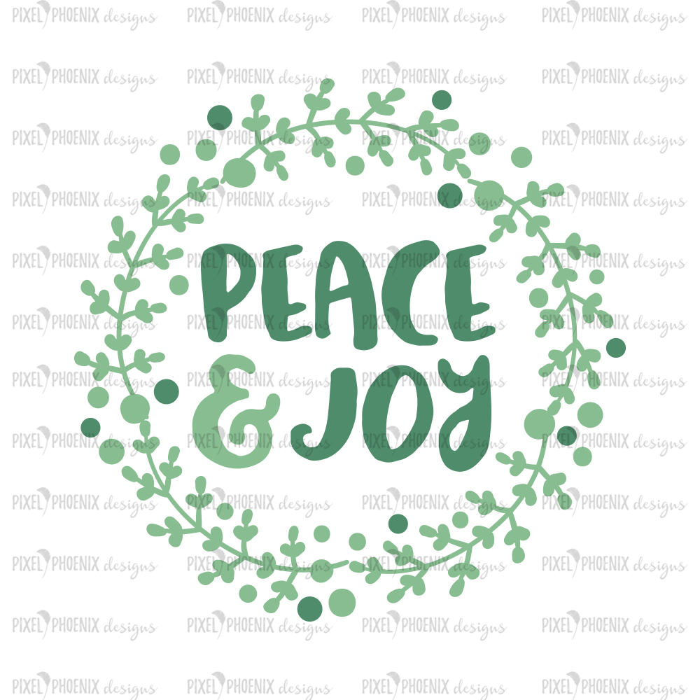 Peace and Joy SVG, Christmas wreath svg, Christmas Laurel svg, Christmas cut file, svg cut file, svg file for cricut, svg file silhouette