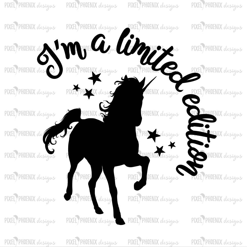 Limited Edition SVG, Unicorn SVG file, unicorn cut file, unicorn decal svg, svg for Cricut, vinyl template, instant download, svg cuttable