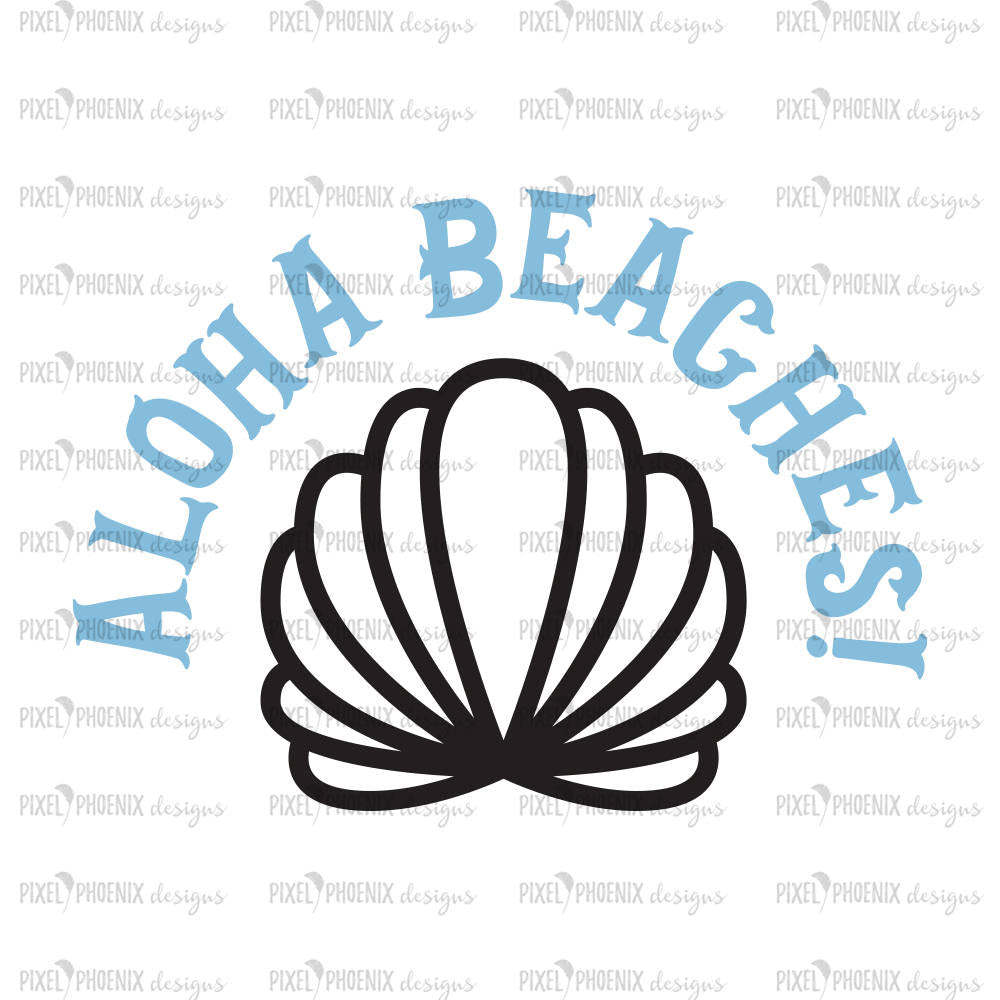 Aloha Beaches SVG, Mermaid SVG file, mermaid cut file, mermaid clipart, svg for Cricut, vinyl template, instant download, svg cuttable