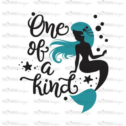 Mermaid SVG file, One of a kind SVG, mermaid cut file, mermaid clipart, svg for Cricut, vinyl template, instant download, svg cuttable