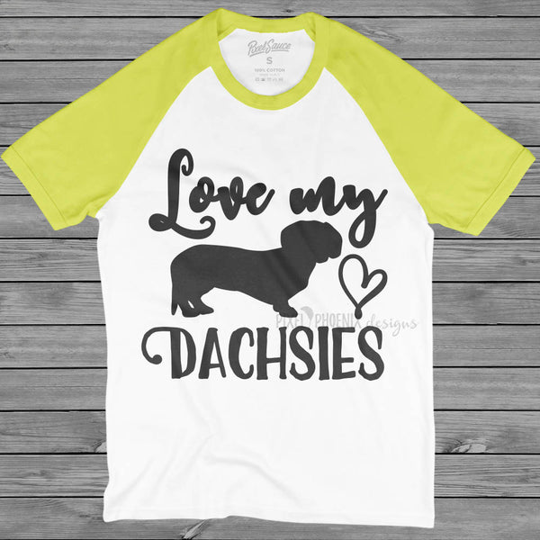 Love my dachsies SVG, dog lovers SVG, Dachshund SVG, Wiener Dog svg file, svg for Cricut, vinyl template, dog lover svg, instant download