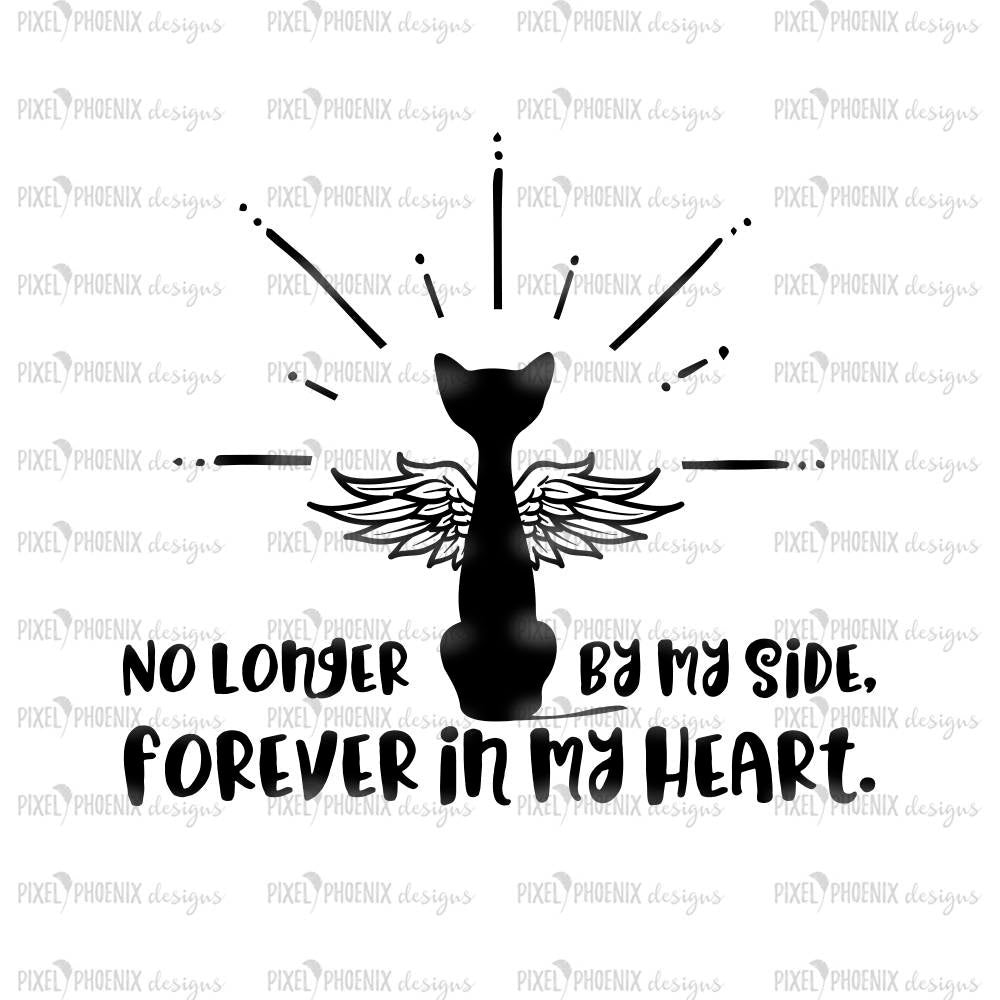 Forever In My Heart, Cat memorial svg, cat loss svg, cat lover gift, svg for Cricut, instant download, cat lovers svg, cat cut file