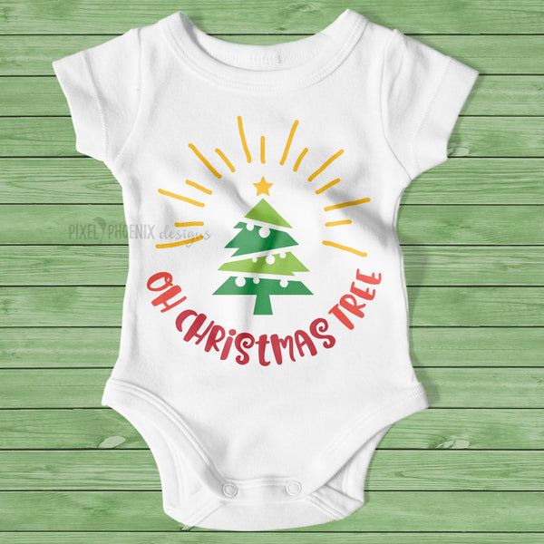 Oh Christmas Tree, Christmas tree SVG, Tree with star svg, Christmas svg file, svg cut file, cricut cut file, silhouette, digital download