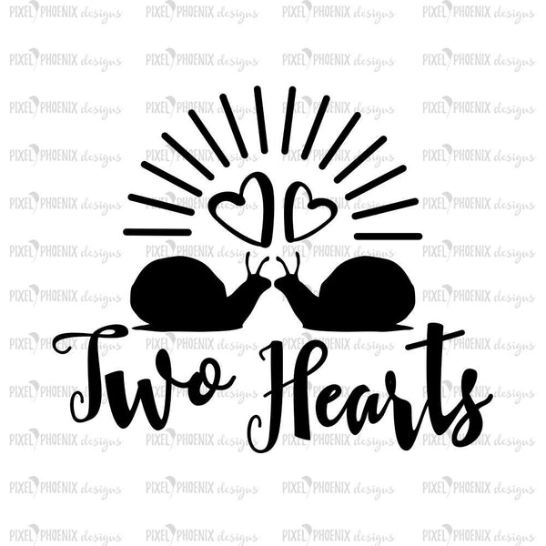 Two Hearts SVG file, Valentine SVG, Valentine's Day svg, Valentines Day svg, Love SVG file, Snail svg, two snails image, Love svg cut file