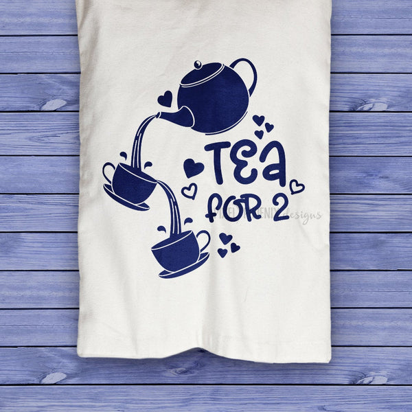 Tea for 2 SVG, Tea for two SVG, Tea lover SVG, Tea Cups svg, Teacup design, Tea fan, Tea lovers, Tea decal design, Tea drinkers