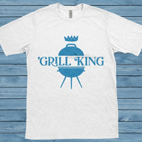 King of the Grill, Grill King SVG, Fathers Day svg, Barbecue T-Shirt, Gifts for Dad, Gifts for Boyfriend, Chef Shirt, BBQ svg, Backyard svg