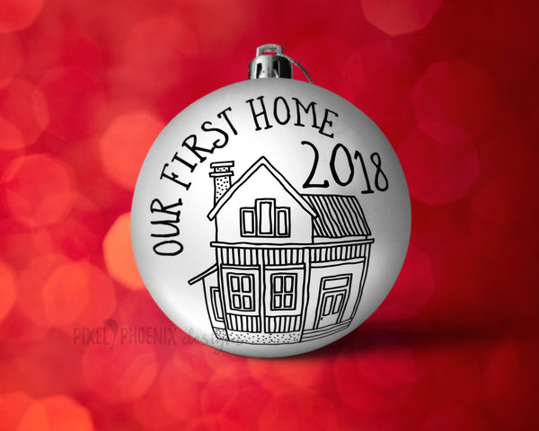 Our first home SVG, Christmas SVG, New Home SVG, First Home cut file, First Home svg, 2018 svg, svg cut file, cricut, silhouette