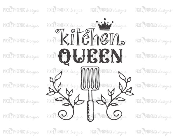 Kitchen Queen SVG, Kitchen SVG, Egg lifter svg, Farmhouse svg, grill design, Tea towel svg, kitchen cut file, SVG cut file