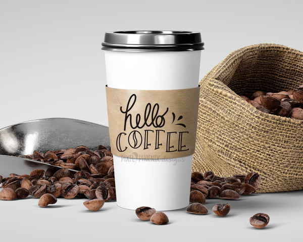 Hello Coffee SVG, Coffee SVG file, SVG cut file, Morning Coffee svg, coffee fan, coffee lover, inspirational quote, motivational saying