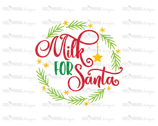 Milk for Santa SVG, Christmas SVG, Santa svg, Milk cut file, Plate decorative svg, Plate svg, svg cut file, cricut, silhouette