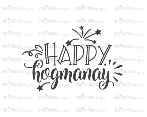 Happy Hogmanay SVG, New Years SVG, Fireworks svg, svg cut file, svg file for cricut, svg file silhouette, New year SVG
