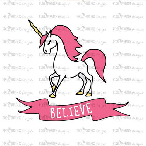 Believe SVG, Unicorn SVG file, unicorn cut file, fantasy horse, cute unicorn decal, I believe in Unicorns, svg cut file