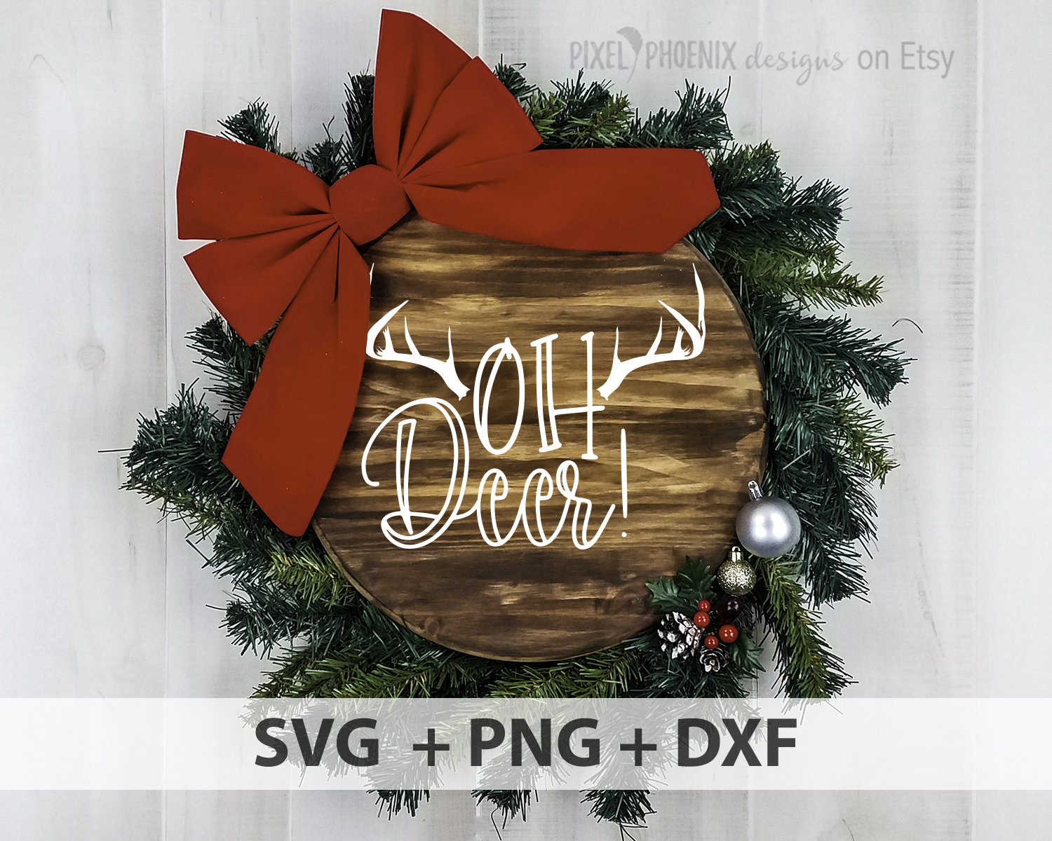Oh Deer Svg Cut File Christmas Svg Pixel Phoenix