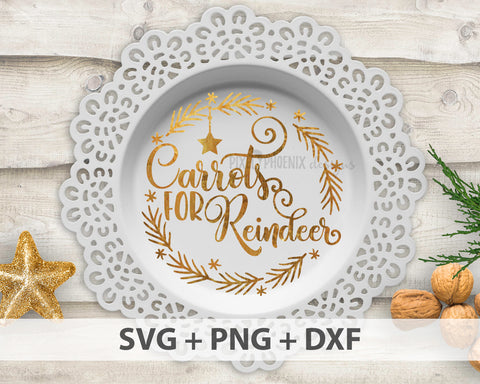 Carrots for Reindeer SVG, Christmas SVG, Reindeer svg, Milk cut file, Plate decorative svg, Plate svg, svg cut file, cricut, silhouette