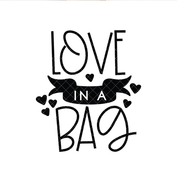 Love in a Bag SVG, Beauty SVG, Cut file for makeup artists, salon owners, stylists, nail technicians or anyone in the fashion industry.