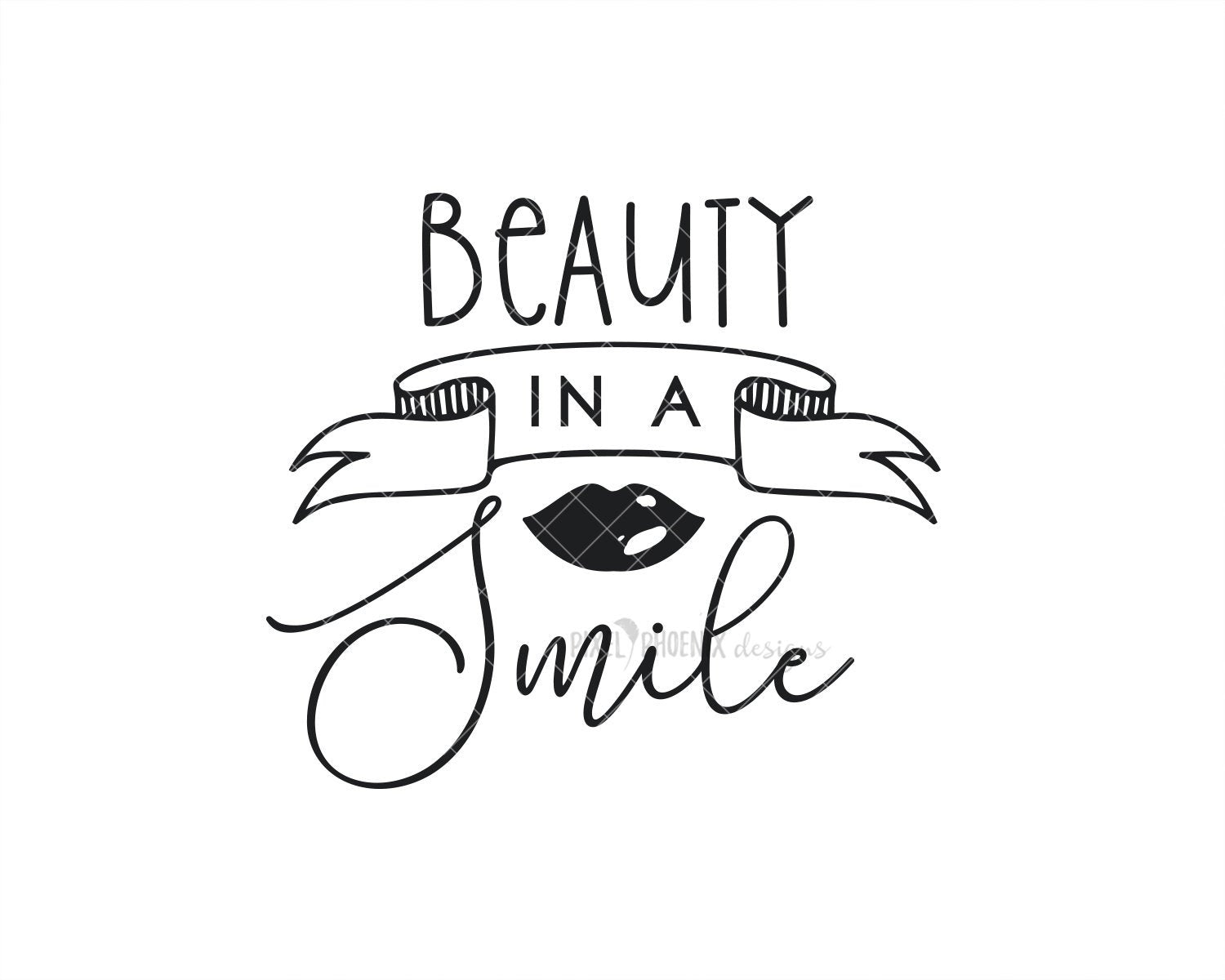 Beauty in a Smile SVG, Beauty SVG, Cut file for makeup artists, salon owners, stylists, or anyone in the fashion industry.