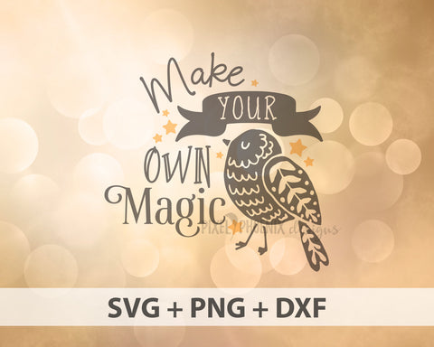 Make your own Magic SVG, magic SVG, magic cut file, Fantasy SVG, whimsical svg, bird cricut