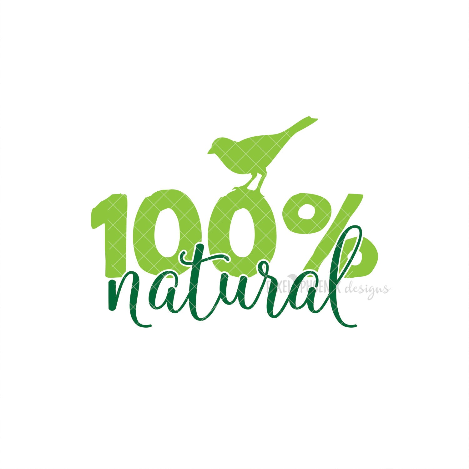 100% Natural SVG, Natural cut file, Natural Beauty, Craft SVG, small shop SVG, vegan products, Cricut, vinyl template, instant download