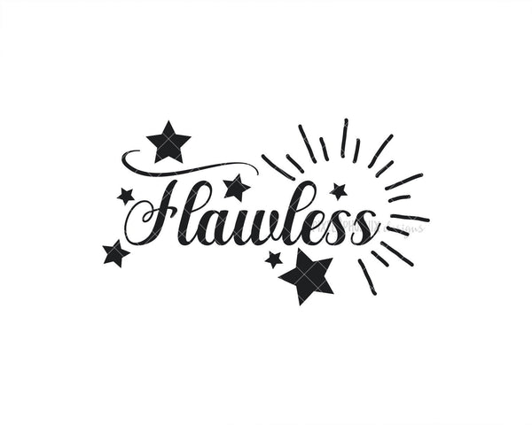 Flawless SVG, Beauty SVG, Cut file for makeup artists, salon owners, stylists, or anyone in the fashion industry.