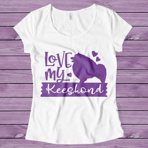 Love my Keeshond, Keeshond SVG, Keeshond cut file, Keeshond dog, Love my dog SVG, dog lover svg, svg for Cricut, Dog mom svg