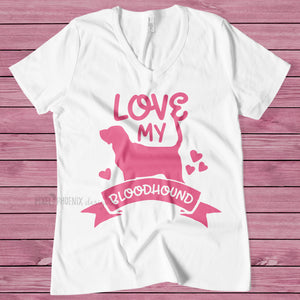 Love my Bloodhound, Bloodhound SVG, Dog mom SVG, dog lover svg, dog svg files cricut, dog svg file, dog svg image, digital file, cut file