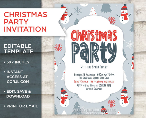 Christmas Party Invitation, Festive Season