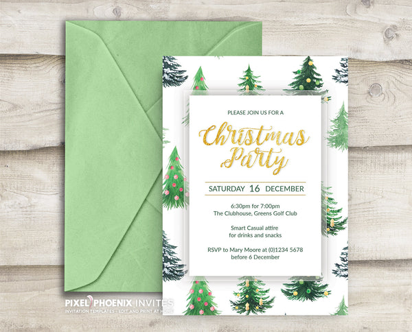 Christmas Party Invitation Festive Season Printable Editable Company Holiday Party Invite Family Christmas Xmas Holiday