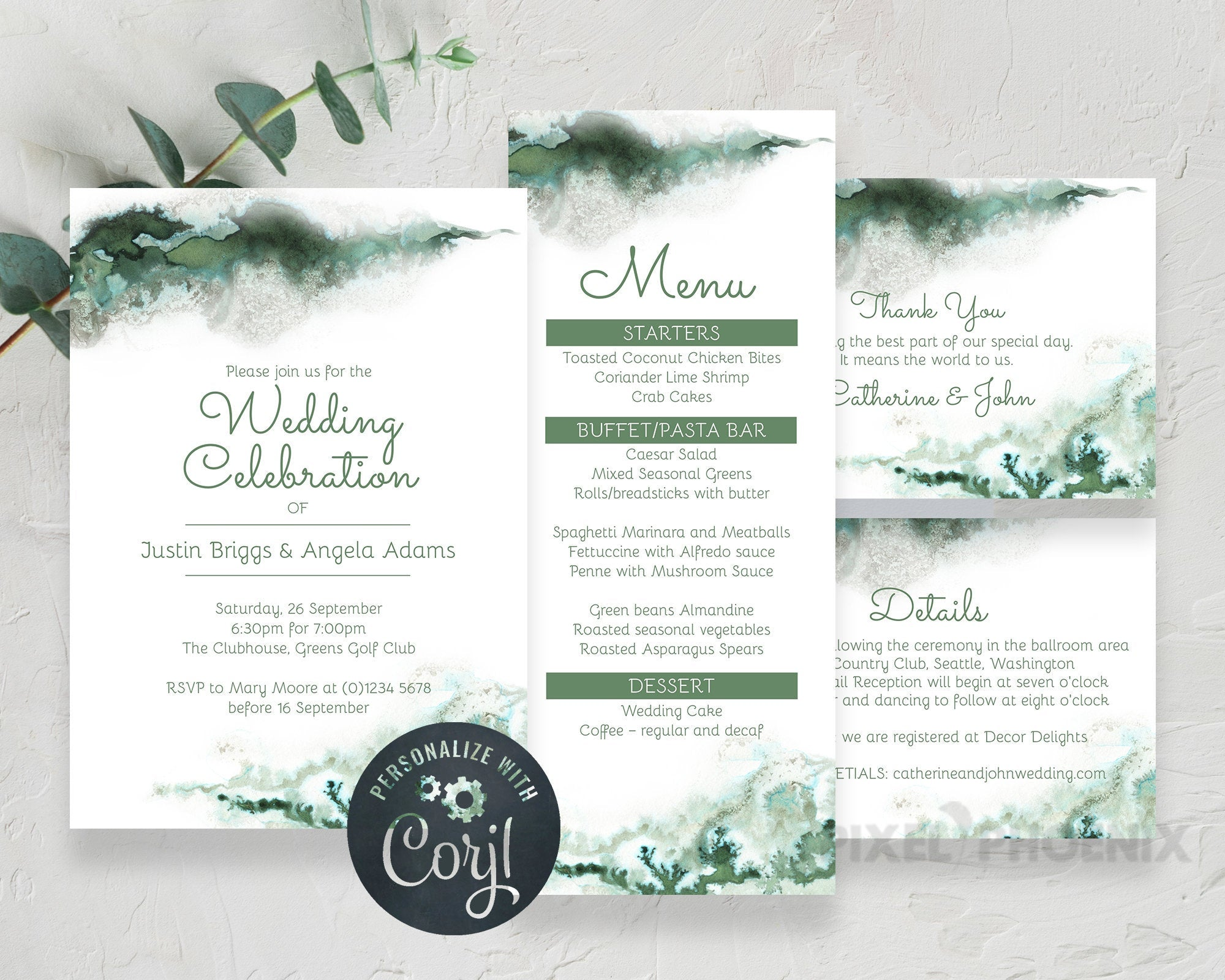 Wedding Set, Wedding Invitation Set