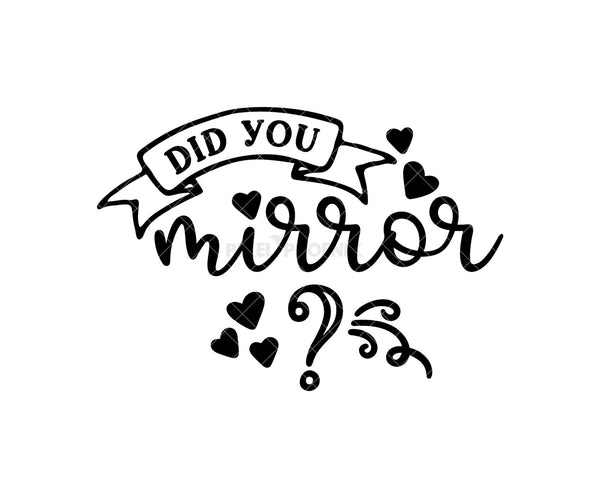 Did you mirror svg, Crafter SVG