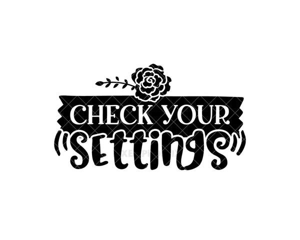 Check your settings svg, Crafter SVG