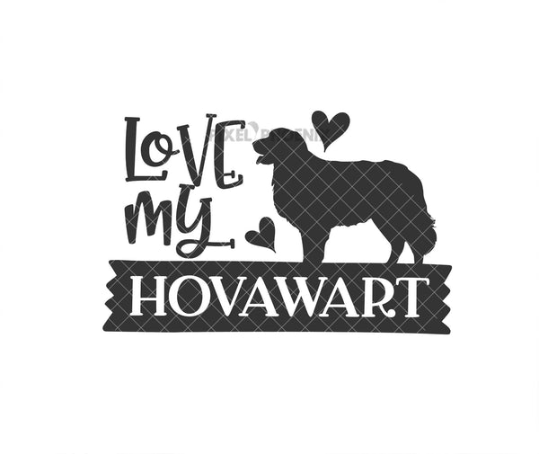 Love my Hovawart, Hovawart SVG