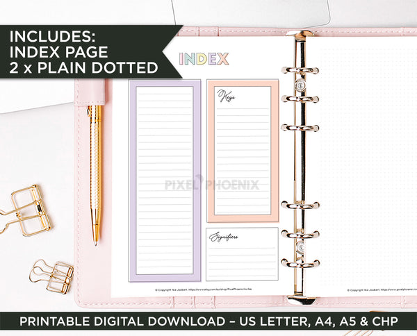 Printable Calendar pages, Undated Calendar