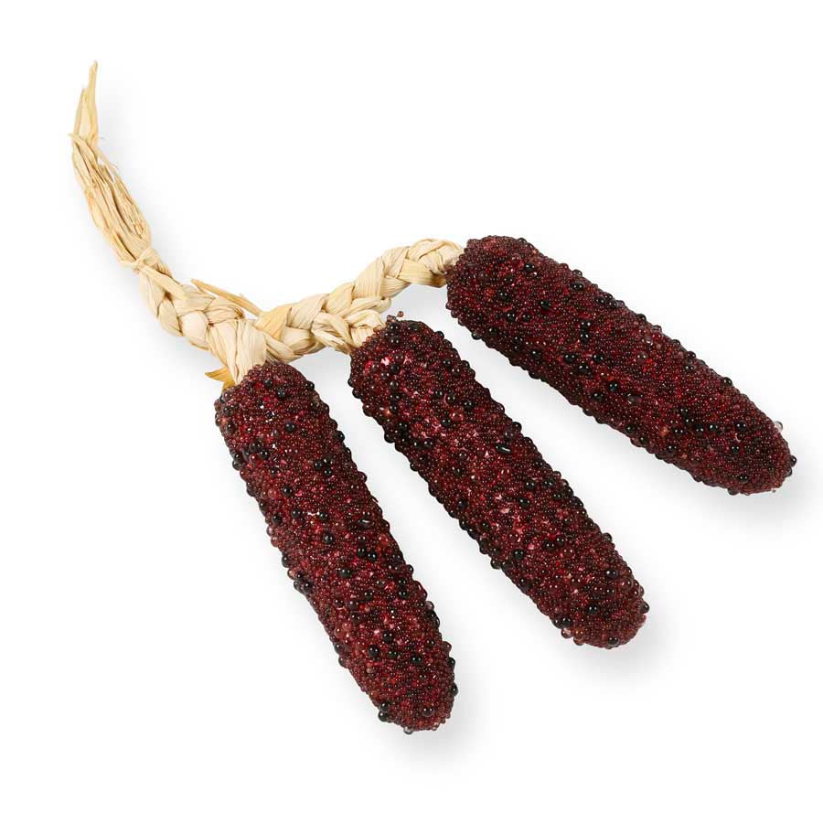 Burgundy Beaded Corn