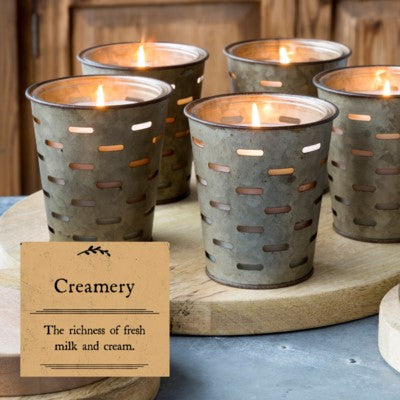 Creamery Olive Bucket Fragrance Candle