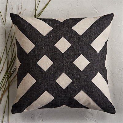 Geometric Striped Pillow