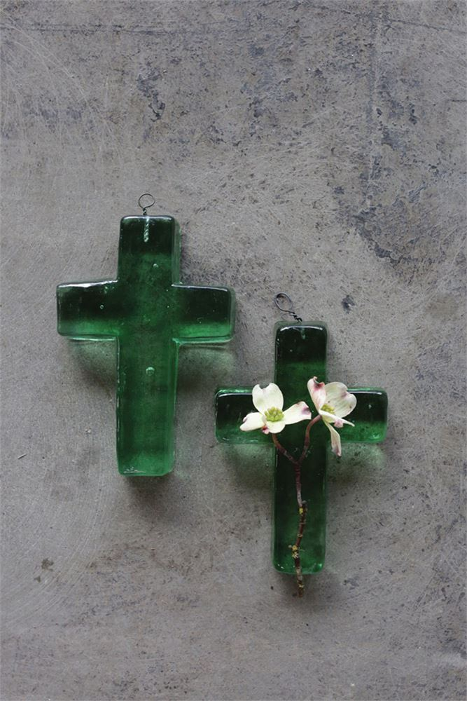 Recycled Glass Cross