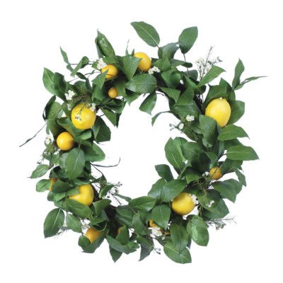 Lemon Starflower Wreath