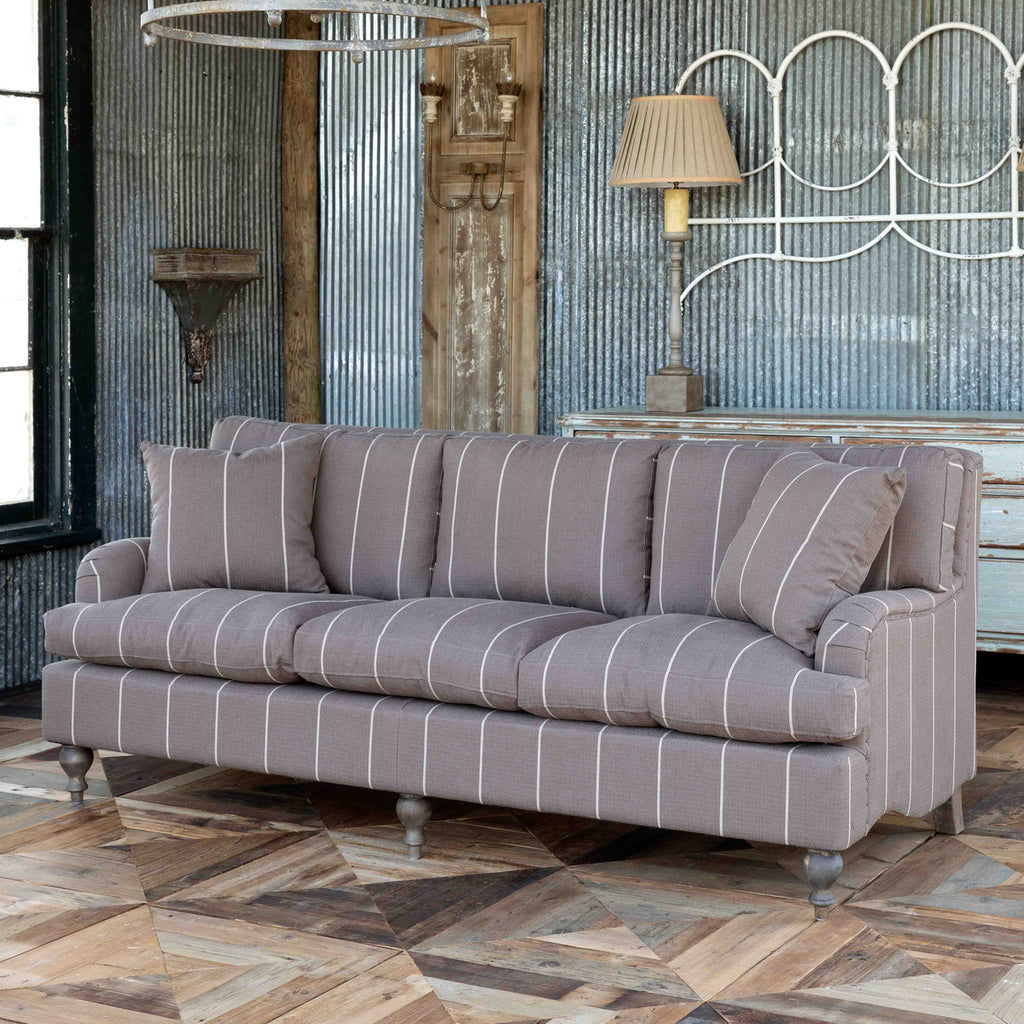 Leela English Rolled Arm Sofa