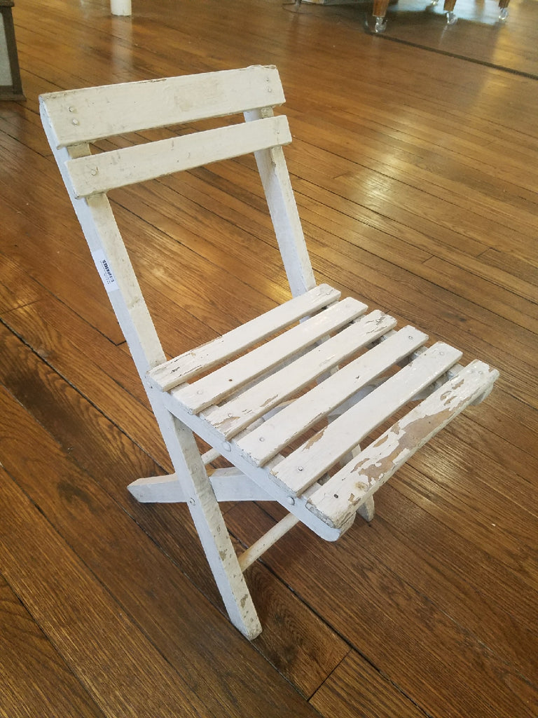 Small White Wood Chair