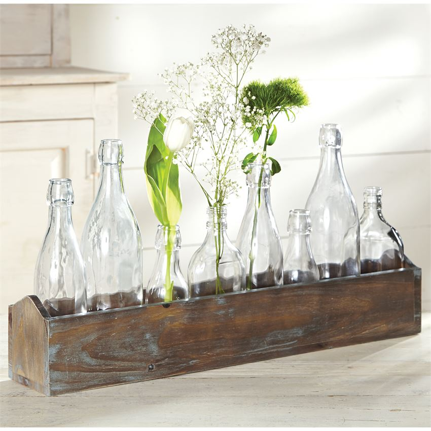 Wooden Vase Caddy