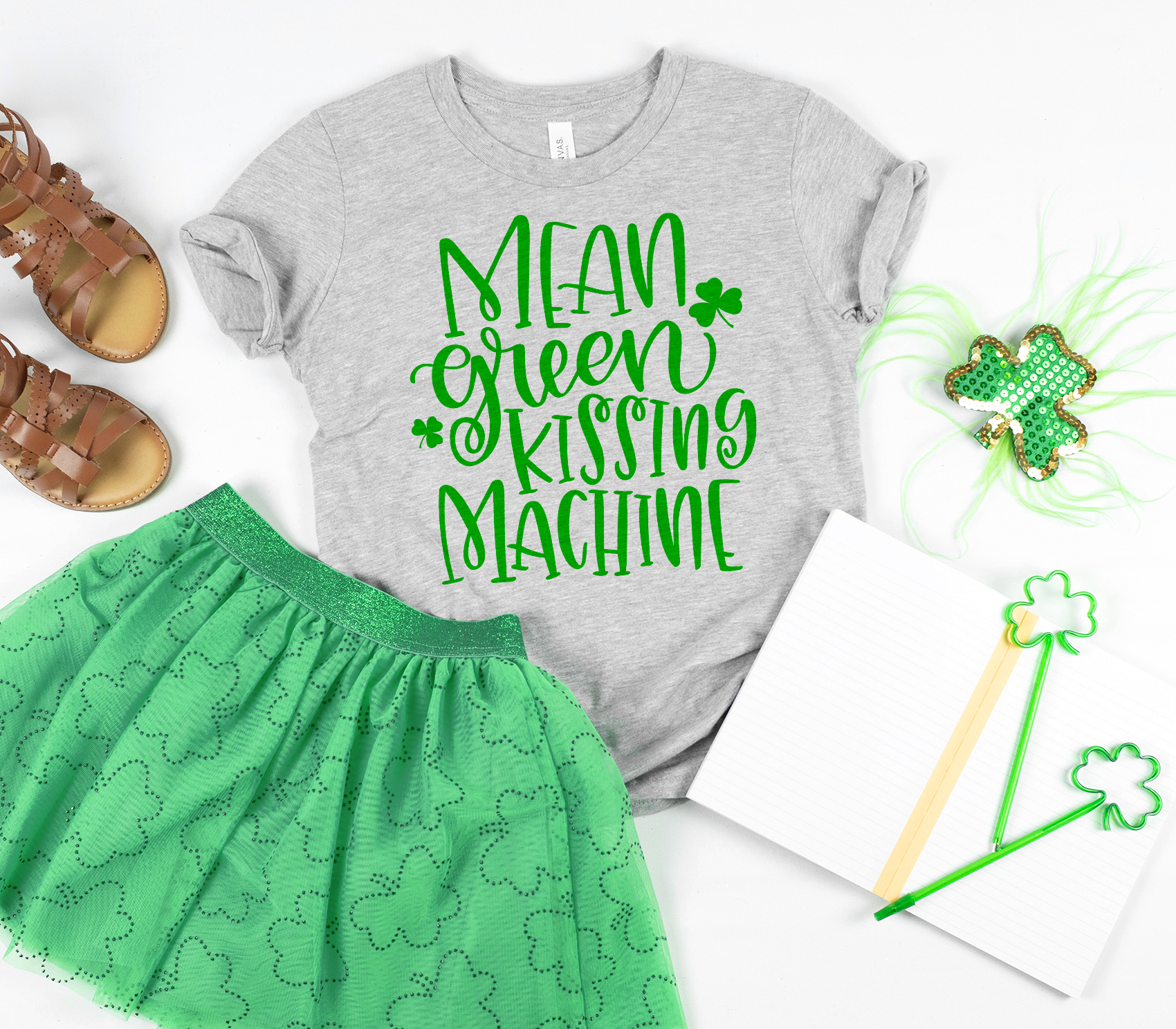 Mean Green Kissing Machine Tee