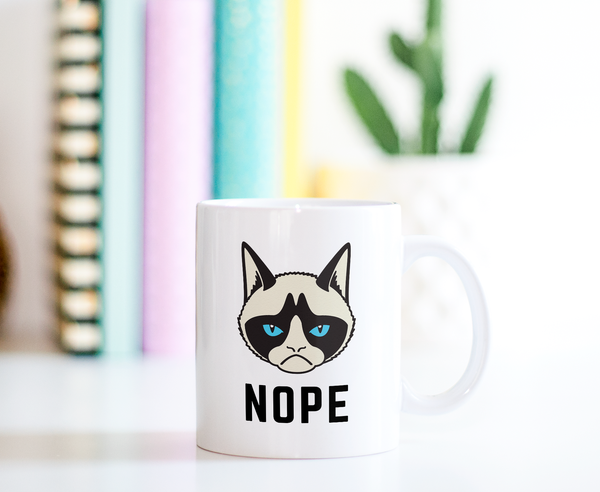Nope Grumpy Cat Ceramic Coffee Mug